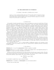 ON THE DERIVATION OF SUBRINGS