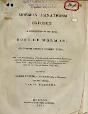 Parsons - Mormon Fanaticism Exposed; a Compendium of the Book of Mormon, or Joseph Smith's Golden Bi