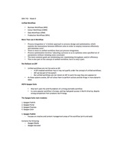 Lecture 8 Notes - Unified Workflow