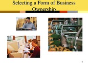 Chp2 Selecting Form of Business