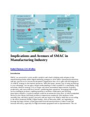 Implications and Avenues of SMAC in Manufacturing Industry.docx