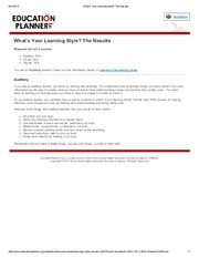 What's Your Learning Style_ The Results