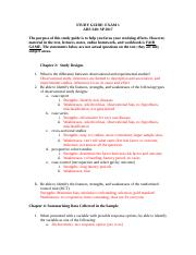 Study Guide Exam 1 AHS 340 SP 2017.docx