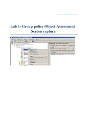 Lab 1Group policy Object Assessment Screen capture (1)