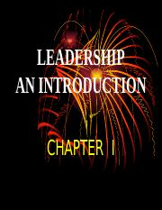 1. INTRODUCTION TO LEADERSHIP