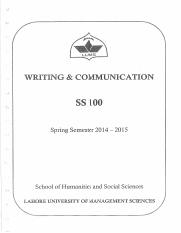 SS - 100 Writing and Communication.pdf