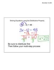 Distributive Property Lecture Notes