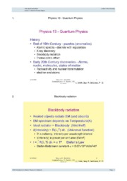 Lecture 7- Quantum Physics Begins