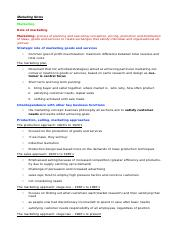 Marketing Notes Business Studies HSC