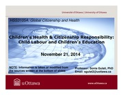 LECTURE 11 - Children's Health and Citizenship Responsibility