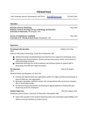 Michael G Huss Resume-2