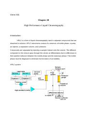 High Performance Liquid Chromatography (1)