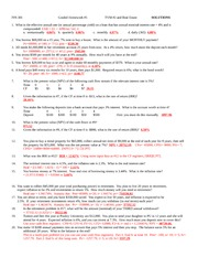 FIN 381 Graded Homework #5 Answers