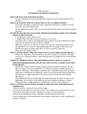 Environments, Inequalities, & Resistance Study Qs.docx