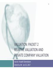 3Lecture Note Packet 2 (Relative Valuation).pdf