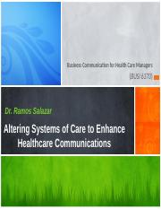 Altering Systems of Care - Ch 24 - Module 13- Lecture A