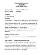 Philosophy assignment