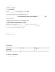 Chapter 7 Worksheet