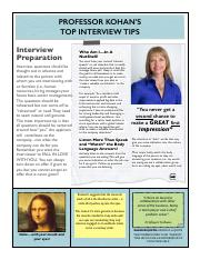 Professor Kohan's Top Interview Tips & Questions 2015 (1).pdf