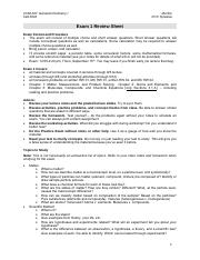CHM 207E Exam 1 Review Sheet Morton F16