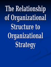 The Relationship of Organizational Structure to Organizational Strategy (1).ppt