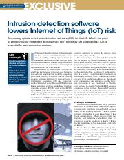 Intrusion detection software lowers Internet of Things (IoT) risk.pdf