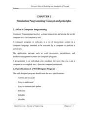 chap2 - Simulation and programming Concept and principles