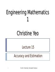 Math 1 lect15 - Accuracy and Estimation.ppt