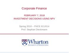 Feb 7 Investment Decisions using the NPV Rule.pdf