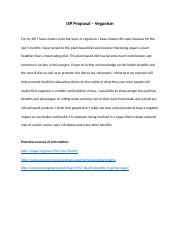 ISP Proposal – Veganism.docx