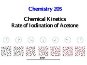 Rate of Iodination of Acetone
