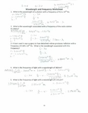 33 Chemistry Worksheet Wavelength Frequency And Energy ...
