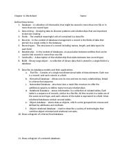 Chapter 11 Worksheet