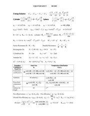 Equation Sheet 1
