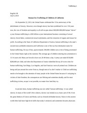 Child Sex Trafficking Paper