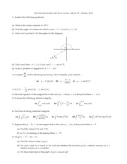 2013 Spring - Math 30 - Final Exam Review