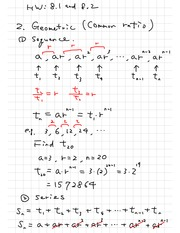 Geometric Sequences Homework Examples