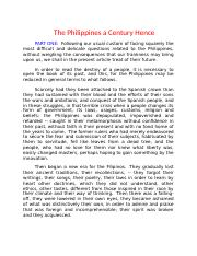 The Philippines a Century Hence.docx