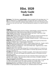 Study Guide for History Exam 3 (Autosaved)