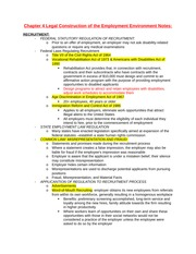 Chapter 4 Legal Construction of the Employment Environment Notes