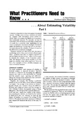 7 estimating volatility