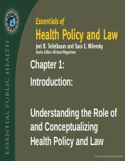 Chapter 1- Intro to Health Policy .ppt