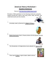 worksheets-american-history
