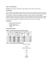 lab 11 conservation of energy lab report