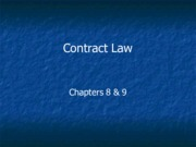 Legal Studies 2700 Contract Law Slides