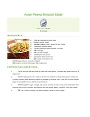 Asian Peanut Broccoli Salad