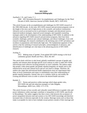 HIV-AIDS Annotated Bibliography