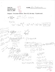 Geometric Applications to Integration Quiz
