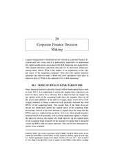 Chapter 20 Corporate Finance Decision Making