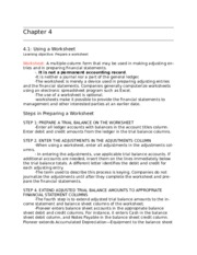 Chapter 4- Using Worksheet explained